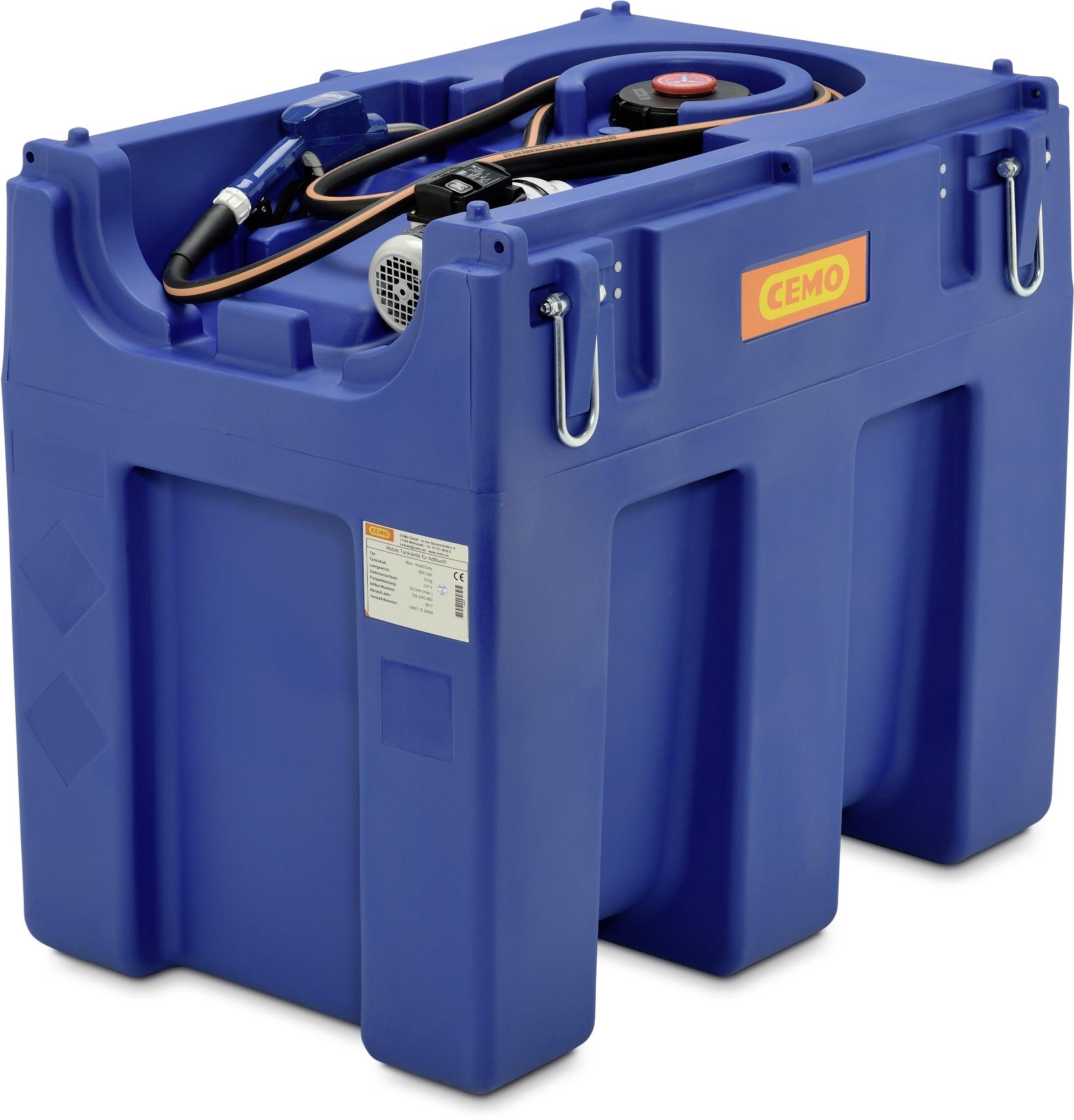 Mobilná nádrž na AdBlue BLUE-MOBIL 600 litrov, 230V bez veka