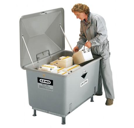 Zberné nádoby aj na vonkajšie skladovanie, kapacita 400 litrov