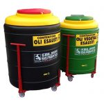 Dvojplášťová nádrž na použité odpadové oleje - 300l