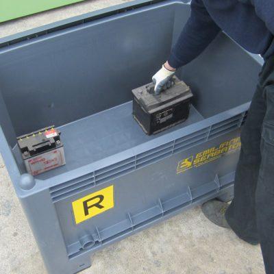 Eko - kontajner pre staré autobatérie