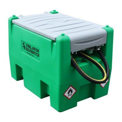 Mobilná nádrž na benzín 220L - ručné piestové čerpadlo