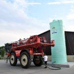 """Agrimaster - jednoplášťová nádrž na DAM 20000 litrov, 2"""" výpustné a 2"""" plniace potrubie v pracovnej výške (Kópia)"""