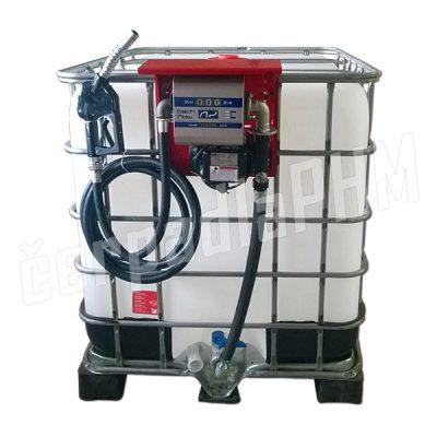 Nádrž IBC 600 litrov + výdajná zostava HITECH 60l/min - 230V