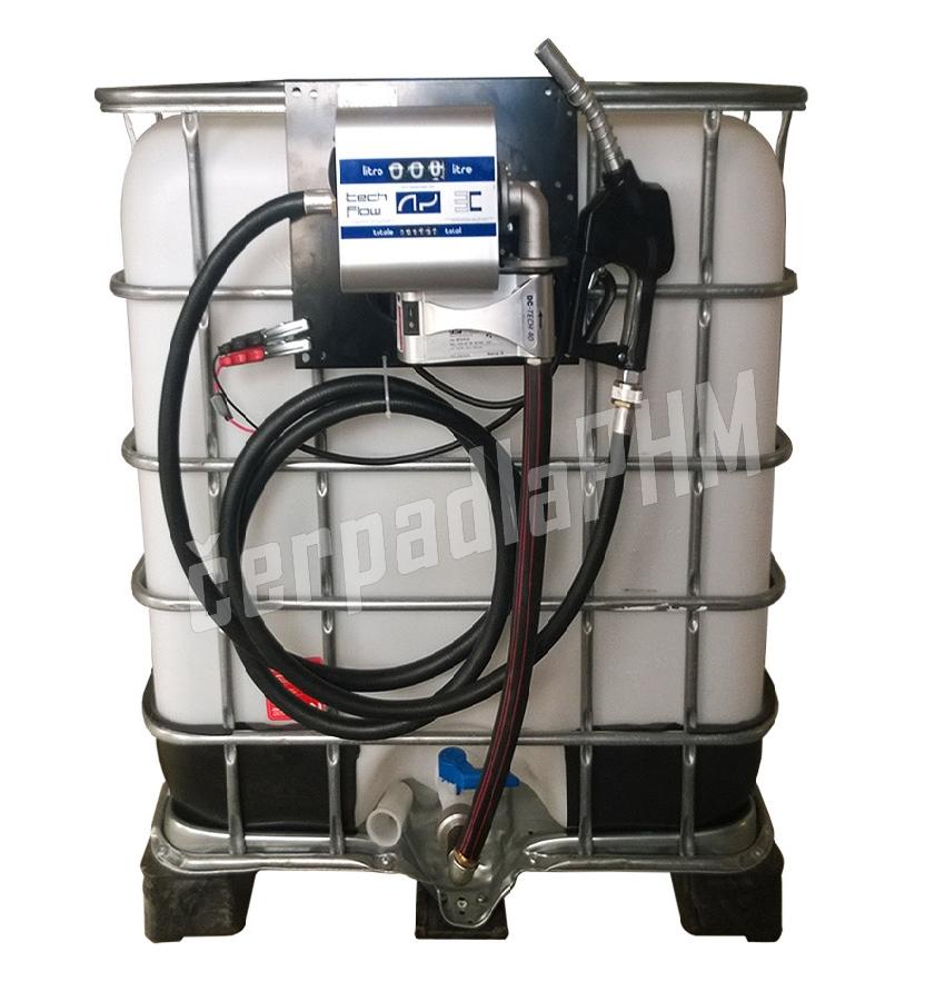 Nádrž IBC 1000 litr. + výdajná zostava WALLTECH 40l/min - 24V
