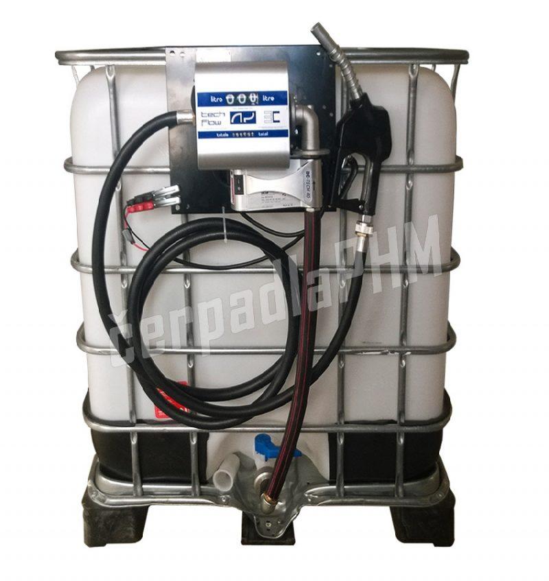 Nádrž IBC 600 litrov + výdajná zostava WALLTECH 40l/min - 12V
