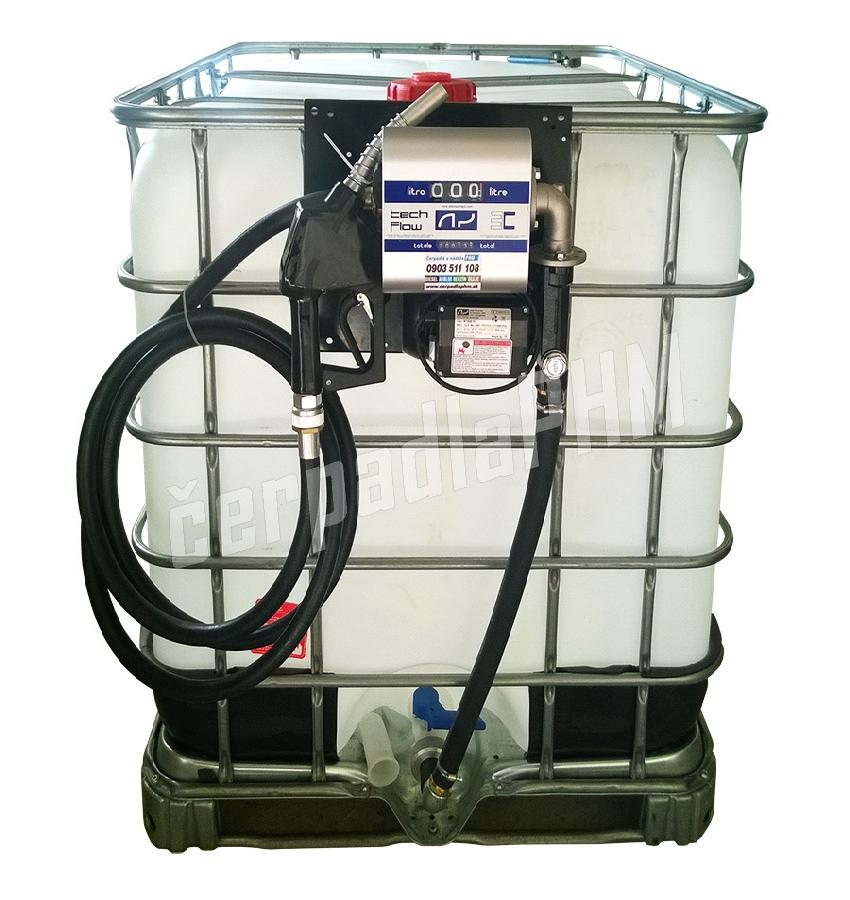 Nádrž IBC 600 litrov+ výdajná zostava WALLTECH 80l/min - 230V