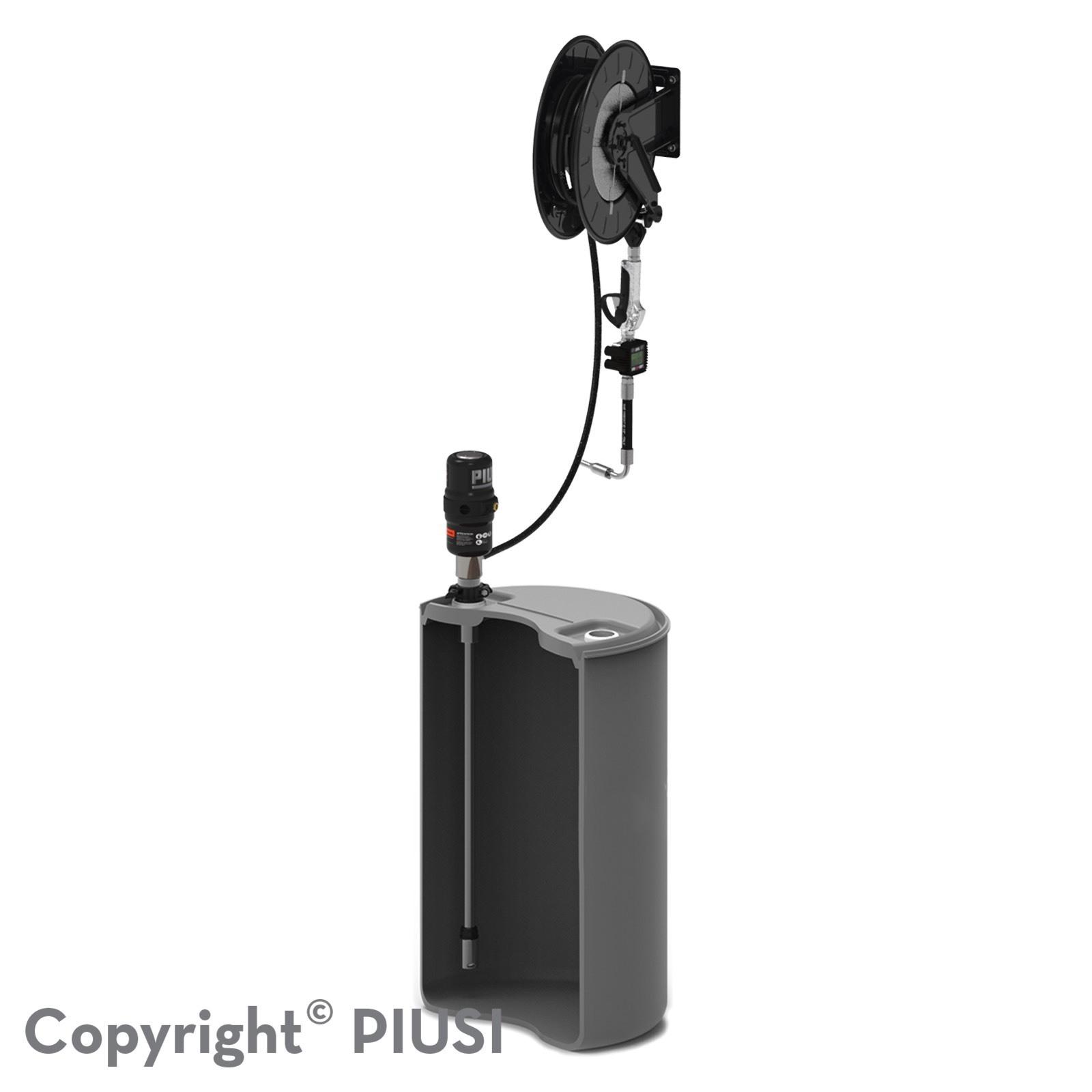 DRUM KIT – pneumatická zostava na olej 5.5 : 1 s meračom a navíjačom hadice