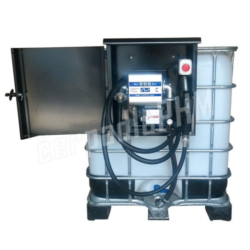 Nádrž IBC 600 litrov+ výdajná zostava Armadillo 85l/min - 12V