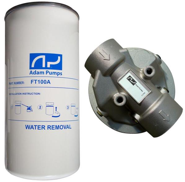 Filter s vodným separátorom 25Mic -100l/min +hlava filtra