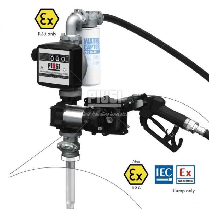 Sudová zostava na benzín PIUSI DRUM EX50 -230V ATEX