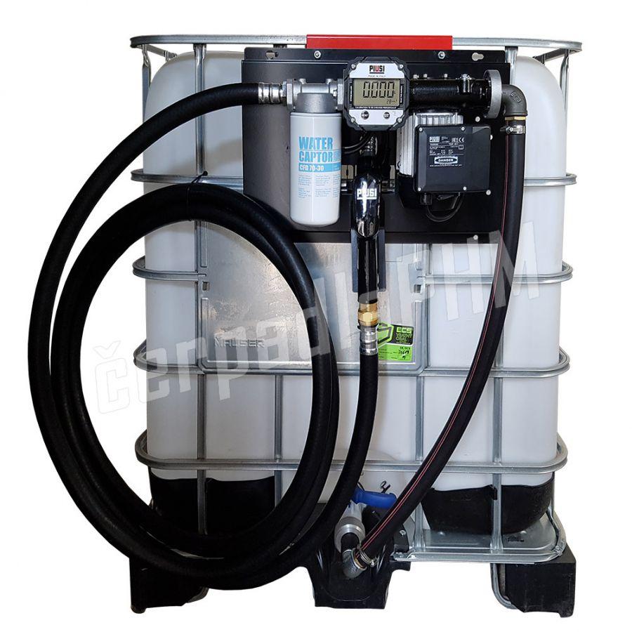 Nádrž IBC 1000 litrov+ výdajná zostava Panther 72l/min DIG - 230V