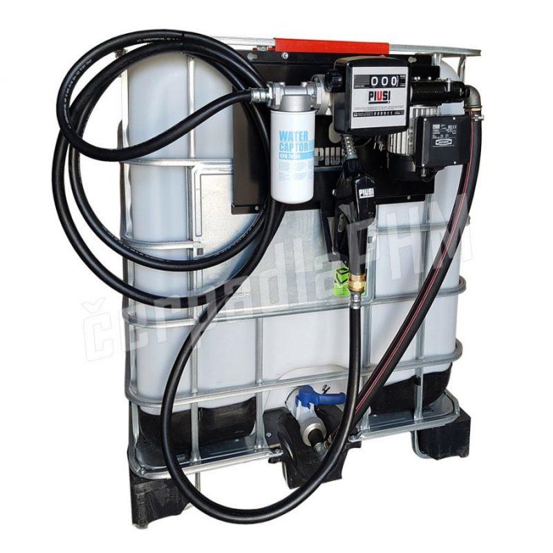 Nádrž IBC 600 litrov+ výdajná zostava Panther 60l/min - 230V