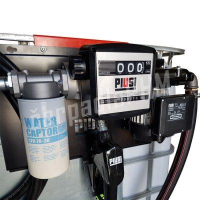 Nádrž IBC 1000 litrov+ výdajná zostava Panther 72l/min M - 230V