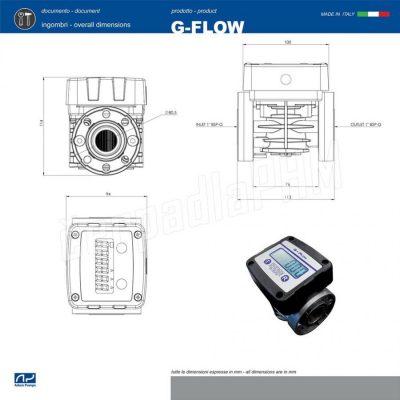 Digitálny prietokomer na oleje G-FLOW